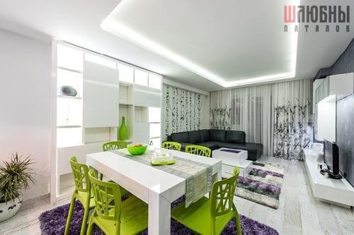 Двухуровневый потолок с подсветкой в Беларуси